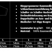 T-Shirt-Masstabelle